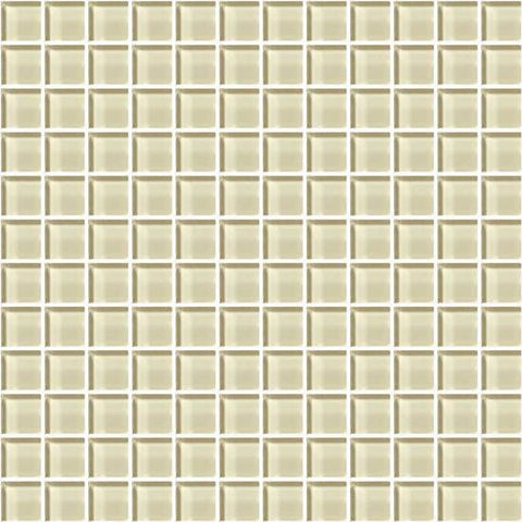 American Olean Color Appeal Cloud Cream 1 X 1 Mesh-Mounted Mosaic