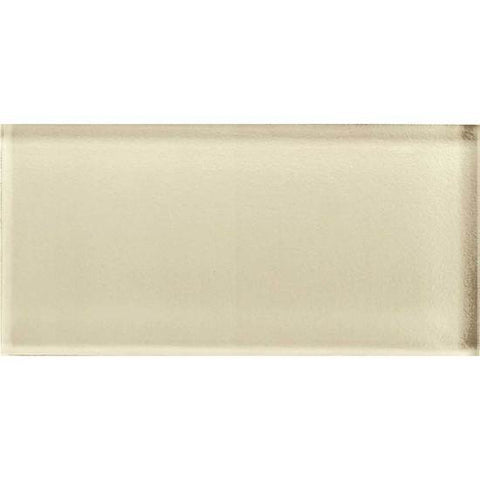 American Olean Color Appeal 3 x 6 Cloud Cream Glass Field Tile