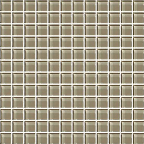 American Olean Color Appeal Plaza Taupe 1 X 1 Mesh-Mounted Mosaic