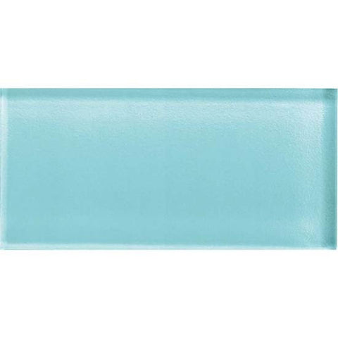 American Olean Color Appeal 3 x 6 Fountain Blue Glass Field Tile - American Fast Floors
