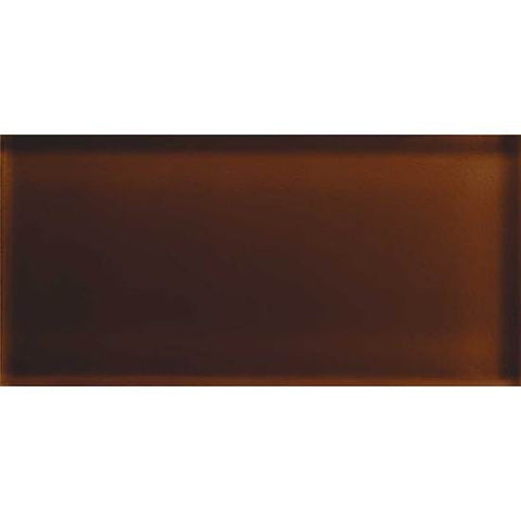 American Olean Color Appeal 3 x 6 Copper Brown Glass Field Tile
