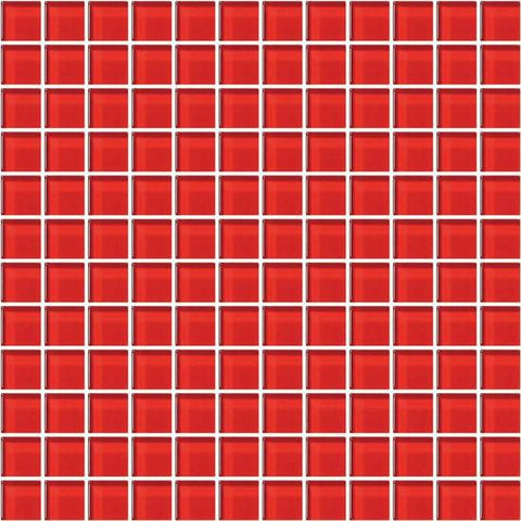 American Olean Color Appeal Cherry 1 X 1 Mesh-Mounted Mosaic