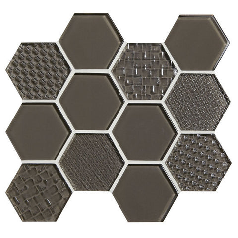 "American Olean Color Appeal Felicity Mink 3"" Hexagonal Multi-Structured Mosaic"
