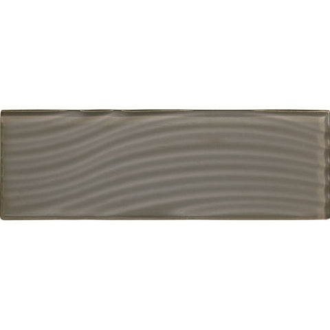 American Olean Color Appeal Abstracts 4 x 12 Mink Wavy Glass Tile - American Fast Floors