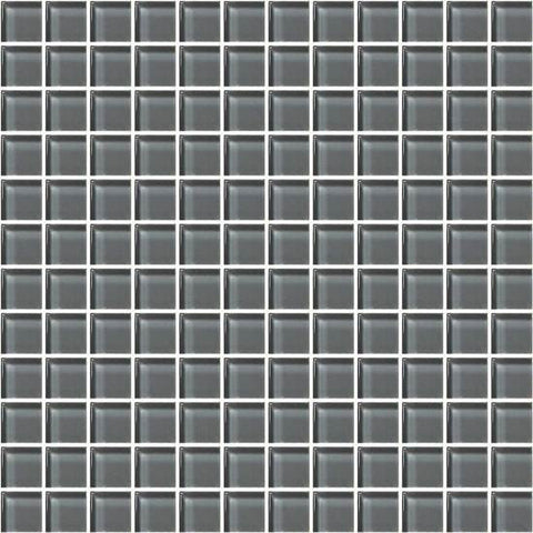 American Olean Color Appeal Charcoal Gray 1 X 1 Mesh-Mounted Mosaic