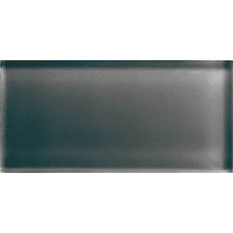 American Olean Color Appeal 3 x 6 Charcoal Gray Glass Field Tile