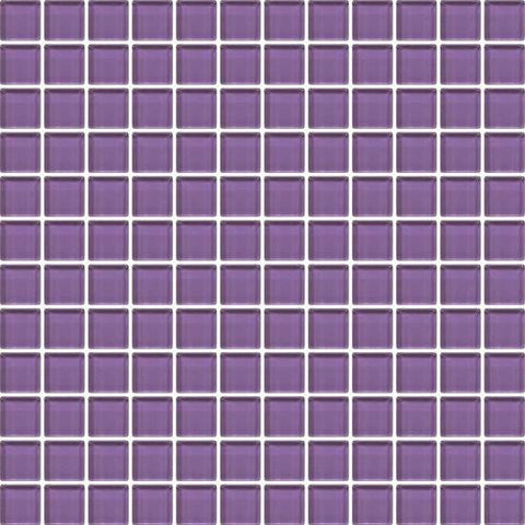 American Olean Color Appeal Plum 1 X 1 Mesh-Mounted Mosaic