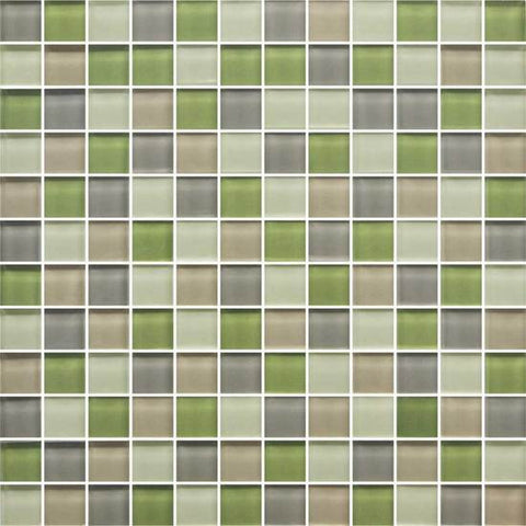 American Olean Color Appeal Willow Brook 1 X 1 Mesh-Mounted Mosaic Blends