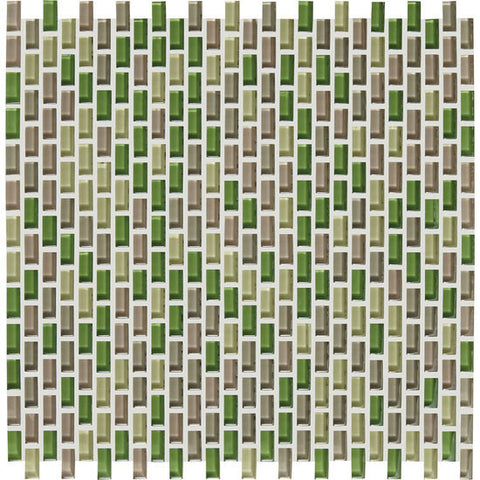 American Olean Color Appeal Renewal Willow Brook 3/8 X 3/4 Chain-Link Glass Mosaic