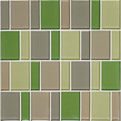 "American Olean Color Appeal Renewal Willow Brook 3"" Block Glass Mosaic - American Fast Floors"