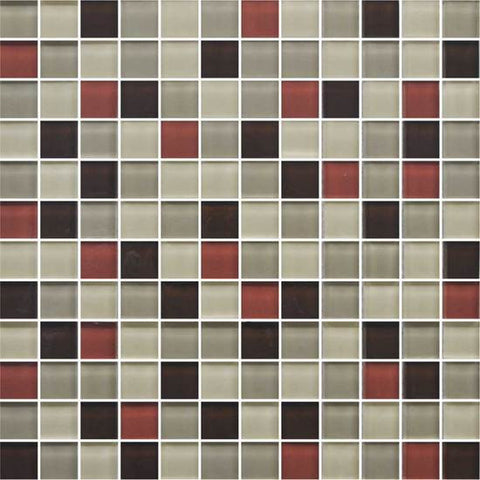 American Olean Color Appeal Earth Fire 1 X 1 Mesh-Mounted Mosaic Blends