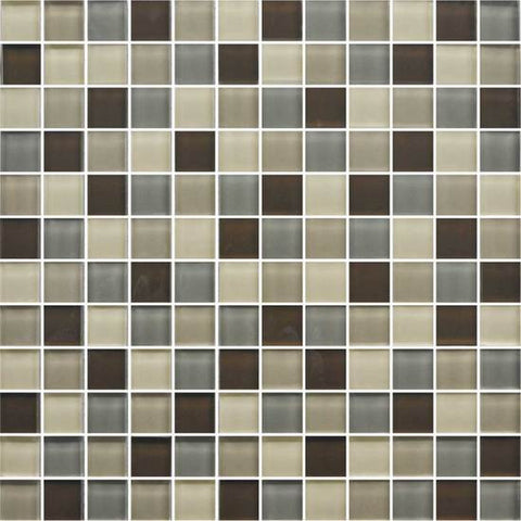 American Olean Color Appeal Pecan Grove 1 X 1 Mesh-Mounted Mosaic Blends