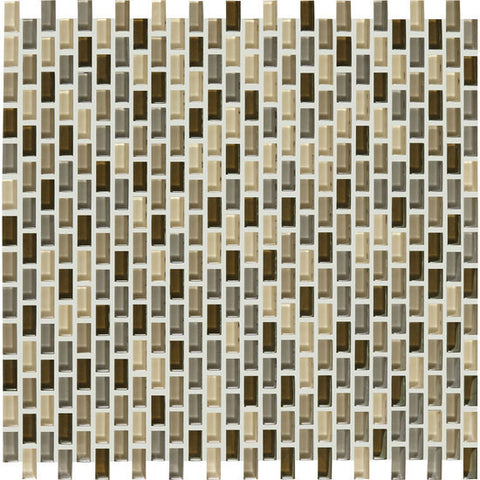 American Olean Color Appeal Renewal Pecan Grove 3/8 X 3/4 Chain-Link Glass Mosaic