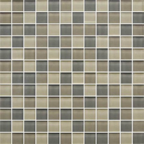 American Olean Color Appeal Sand Storm 1 X 1 Mesh-Mounted Mosaic Blends