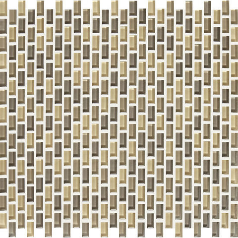 American Olean Color Appeal Renewal Sand Storm 3/8 X 3/4 Chain-Link Glass Mosaic