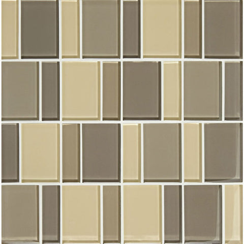 "American Olean Color Appeal Renewal Sand Storm 3"" Block Glass Mosaic"