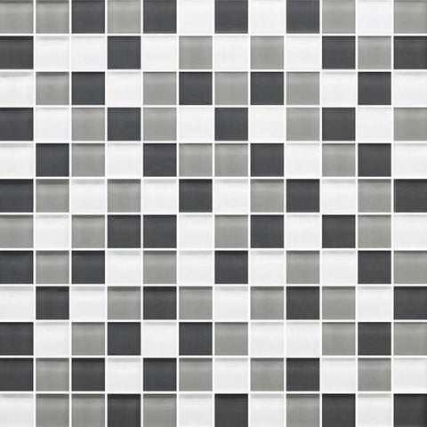 American Olean Color Appeal Silver Spring 1 X 1 Mesh-Mounted Mosaic Blends