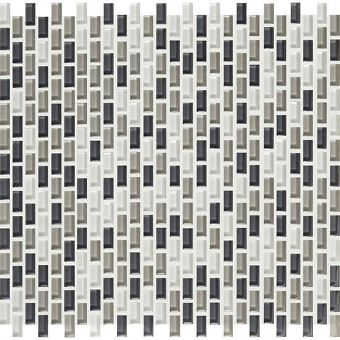 American Olean Color Appeal Renewal Silver Spring 3/8 X 3/4 Chain-Link Glass Mosaic