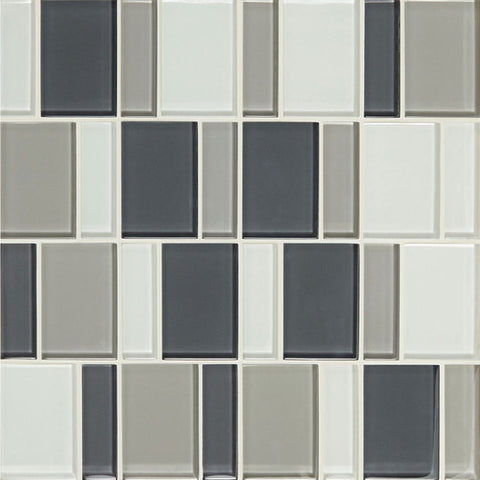 "American Olean Color Appeal Renewal Silver Spring 3"" Block Glass Mosaic - American Fast Floors"
