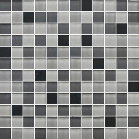 American Olean Color Appeal Midnight Sky 1 X 1 Mesh-Mounted Mosaic Blends - American Fast Floors