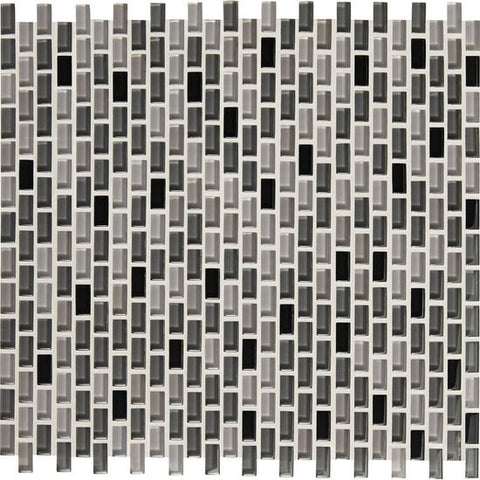 American Olean Color Appeal Renewal Midnight Sky 3/8 X 3/4 Chain-Link Glass Mosaic