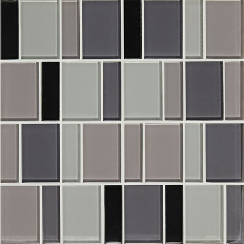 "American Olean Color Appeal Renewal Midnight Sky 3"" Block Glass Mosaic"