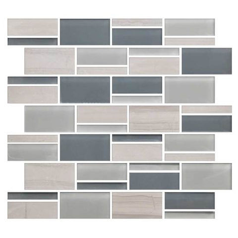 "American Olean Color Appeal Sea Cliff 3"" X Random Mosaic Blends"