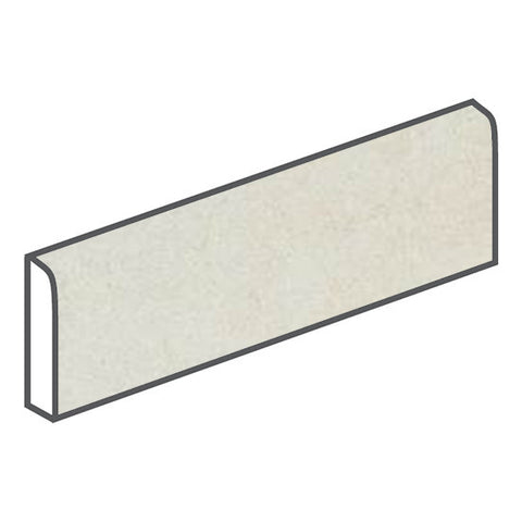 American Olean Concrete Chic 3 x 12 Current Cream Surface Bullnose