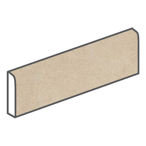 American Olean Concrete Chic 3 x 12 Trendy Tan Surface Bullnose - American Fast Floors