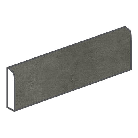 American Olean Concrete Chic 3 x 12 Stylish Charcoal Surface Bullnose