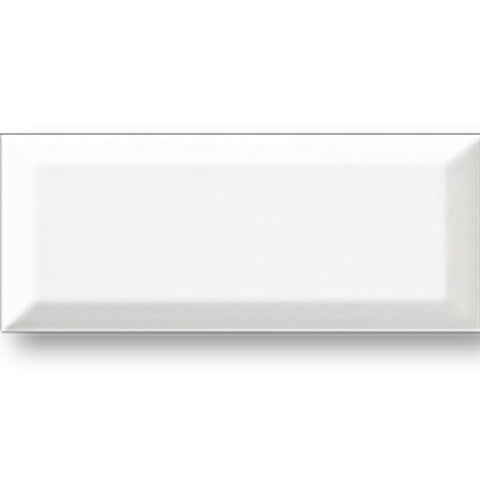 "Color Collection Beveled 4-1/4""X10"" White Ice Bright Wall Tile"