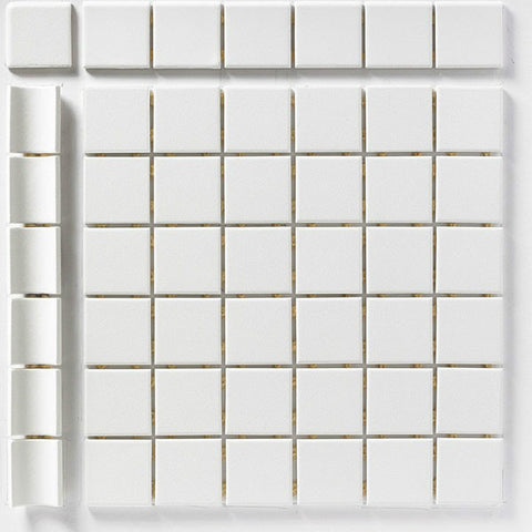"CC Porcelain 2""X2"" Snow White Cove Outside Corner - American Fast Floors"