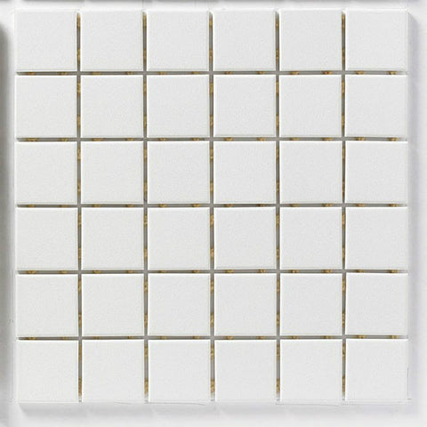 "CC Porcelain 12""X12"" Snow White Floor Tile"