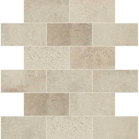 American Olean Fusion Cotto Ecru 2 X 4 Brick-Joint Mosaic
