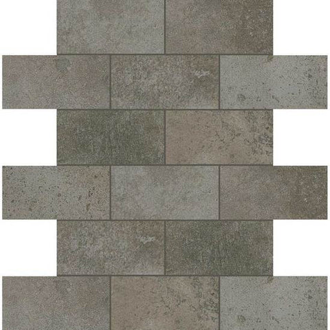 American Olean Fusion Cotto Grigio 2 X 4 Brick-Joint Mosaic