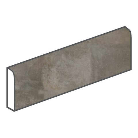 American Olean Fusion Cotto 3 x 12 Grigio Surface Bullnose - American Fast Floors