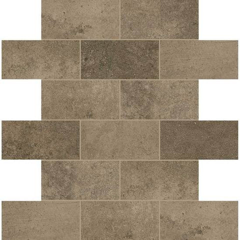 American Olean Fusion Cotto Marrone 2 X 4 Brick-Joint Mosaic