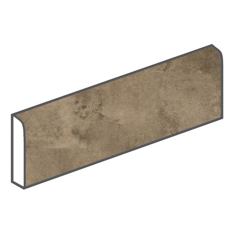 American Olean Fusion Cotto 3 x 12 Marrone Surface Bullnose - American Fast Floors