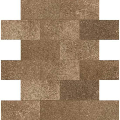 American Olean Fusion Cotto Cotto 2 X 4 Brick-Joint Mosaic