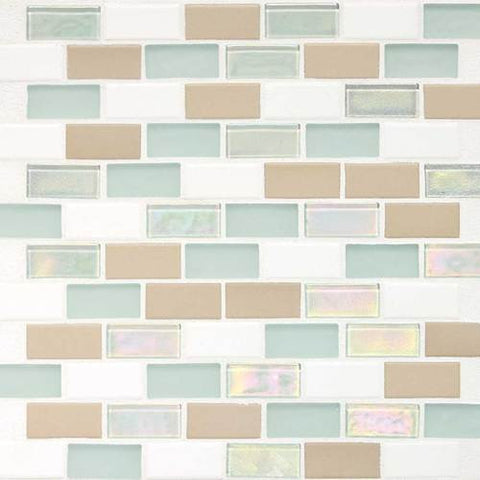 "Daltile Coastal Keystones 11-7/8"" x 12-7/8"" Trade Wind Brick-Joint Mosaic"