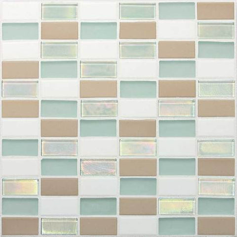 "Daltile Coastal Keystones 11-7/8"" x 11-7/8"" Trade Wind Straight-Joint Mosaic"