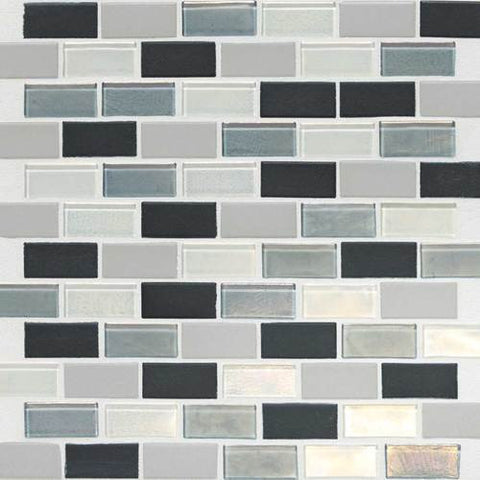 "Daltile Coastal Keystones 11-7/8"" x 12-7/8"" Tropical Thunder Brick-Joint Mosaic"