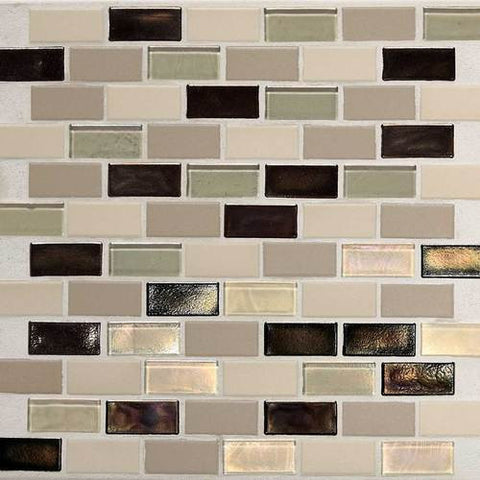 "Daltile Coastal Keystones 11-7/8"" x 12-7/8"" Sunset Cove Brick-Joint Mosaic - American Fast Floors"