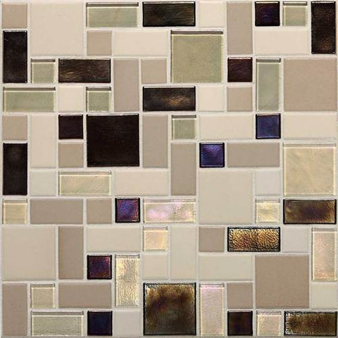 "Daltile Coastal Keystones 11-7/8"" x 11-7/8"" Sunset Cove Block Random Mosaic - American Fast Floors"