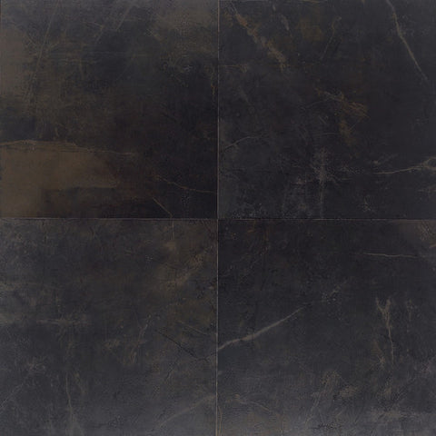 "Daltile Concrete Connection 20"" x 20"" Downtown Black Floor Tile"