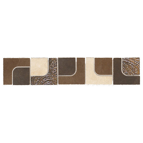 "Daltile Concrete Connection 2"" x 6"" Retro Warm Interlocking Border"