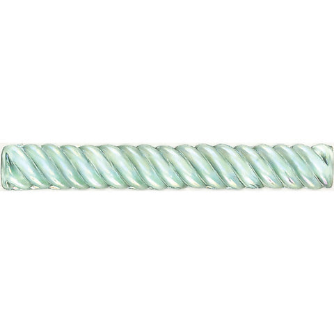 "Daltile Cristallo Glass 1"" x 8"" Aquamarine Rope"