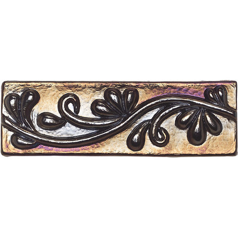 "Daltile Cristallo Glass 3"" x 8"" Black Opal Vine"