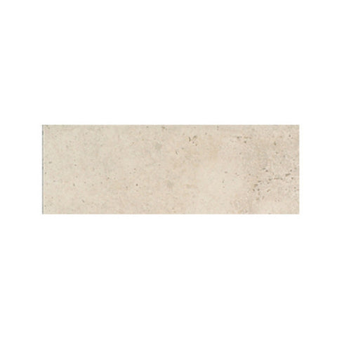 "American Olean Costa Rei 2 x 6 Peitra Bianco Wall Surface Bullnose - 6"" Side"