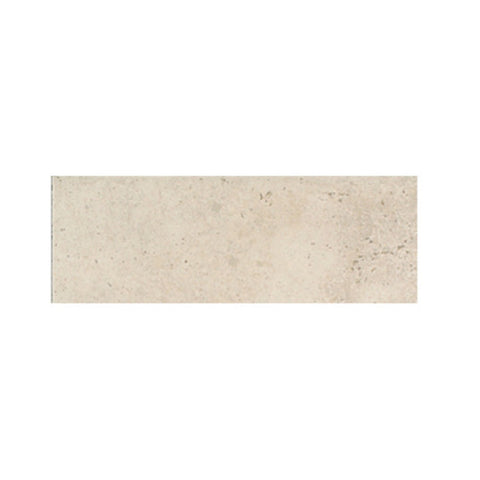 "American Olean Costa Rei 3 x 10 Peitra Bianco Wall Surface Bullnose - 10"" Side"